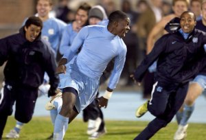 College Cup penalty kick clincher for the Tar Heels? No problem. (photo: davislegacysoccer.org)