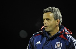 Frank Klopas looks on Saturday night at Blackbaud Stadium. (photo: zimbio.com)