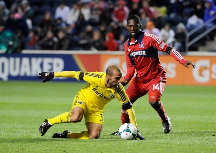 Nyarko: He played like a champion (photo: chicago-fire.com)