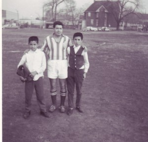 That's me in the vest, with my little brother Ricky - posing with one of the Tanners. Chicago early 1960's.
