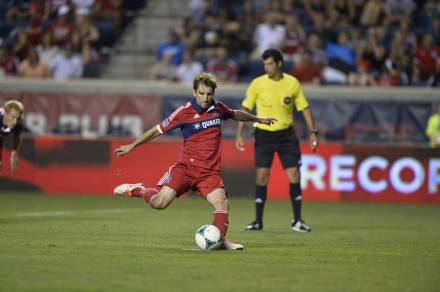 Magee puts the cherry on top of the Fire victory (source: chicago-fire.com)