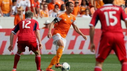 Luckily for Chicago, the guy in the middle's been banged up. (photo: houstondynamo.com)