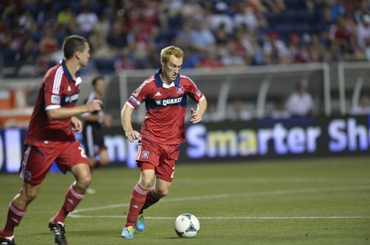 Big Red = Big Attack vs. DCU (photo: chicago-fire.com)