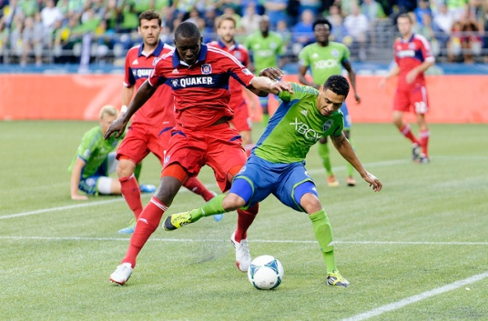 Message to the guy on the left: Your play was bad enough. Your behavior, even worse. (photo: chicago-fire.com)