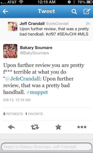 Don't bother looking for this on Twitter. Soumare hit the delete button last night.