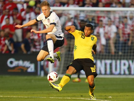 "And so it begins: Aron ""Alabama Ice"" Johannsson's first start for USMNT. (photo: soccer.si.com)"