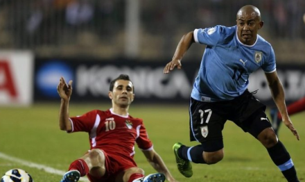 Fire man Cacha Rios and La Celeste look to be Brasil bound... (photo: BBC Sport)