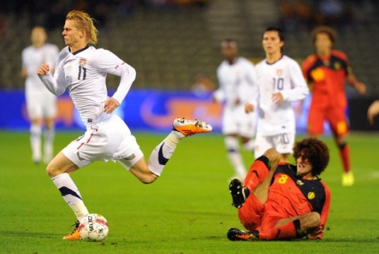 On the bright side, Brek Shea's comedy stylings have floored the Belgians in the past. (photo: soccerbyives.net)