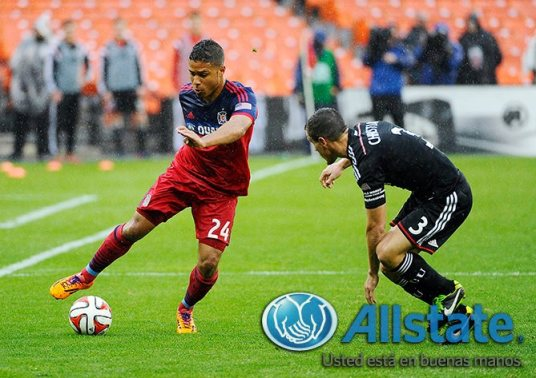 Quincy Amarikwa or Project Q as he's been dubbed rescued a point for the Fire (photo Chicago-Fire.com)