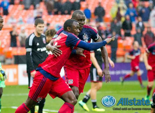 Jhon Kennedy Hurtado opened the scoring, his first goal since 2009 (photo Chicago-Fire.com)