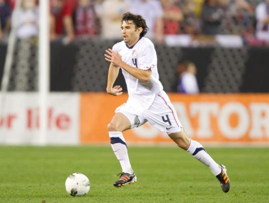 Michael Parkhurst: first name on the team sheet for Rhode Island. Also the second name. And probably the third.(Photo: ussoccer.com)