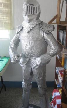 Full-size paper mache knight, coming soon to Toyota Park! (photo: stormthecastle.com)