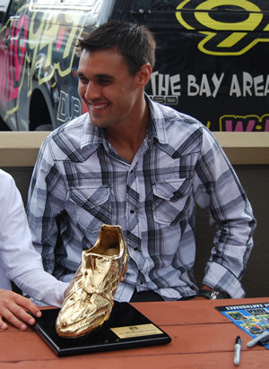 Throw in a CCL Golden Boot, and you're on your way to Brazil. (Photo: almadensoccer.org)