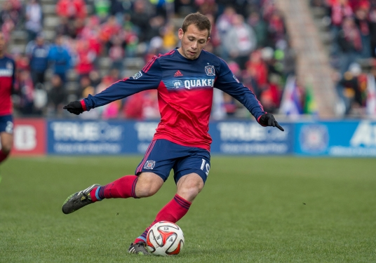 Harry Shipp's Saturday heat map will tell you about New England's game plan. (Photo: Robin Alam/ISIPhotos.com