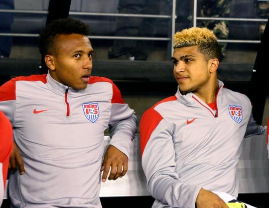 You know you're a surprise call up when even Julian Green is a little taken aback.  (Photo: theamericanpitch.com)