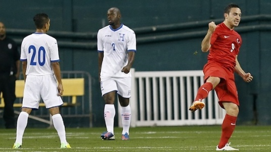 Hopefully the last time there is European delight at playing Honduras this summer. (Photo: mlssoccer.com)