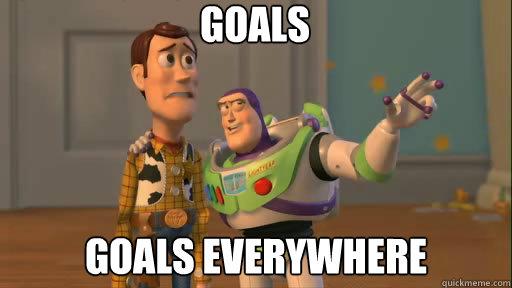 Goals, goals everywhere (