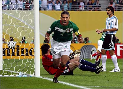 Rafa Marquez scored the 100th World Cup goal by a CONCACAF team in 2006 (Photo: bbc.co.uk)