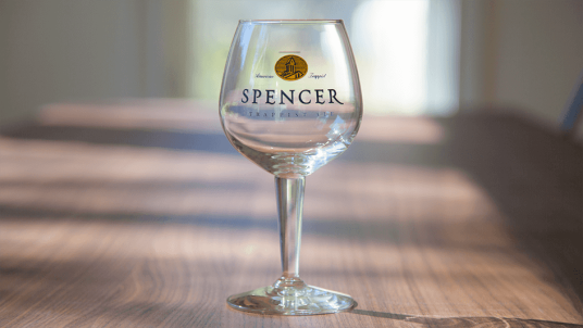 It's Belgian beer: of course there's a special glass (Photo: spencerbrewery.com)