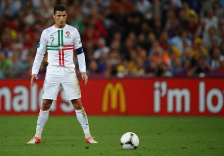 A rare sighting of CR7 with his shirt on (photo: zimbio.com)