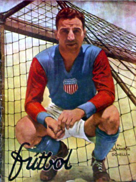 Aldo Donelli, scorer of USMNT's only goal at World Cup 1934 (Image: elotroladodelbalon.blogspot.com)