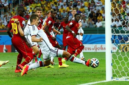 Ghana is good; Klose is scoring: it's 2010 all over again. (Photo: independent.ie)