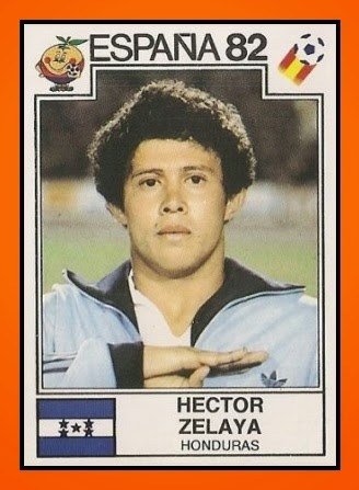 Hector Zelaya scored Honduras's first goal at a World Cup (Image: oldschoolpanini.com)