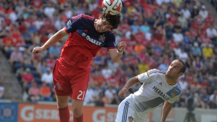 The rookie will learn to use his head more (photo: Chicago-fire.com)