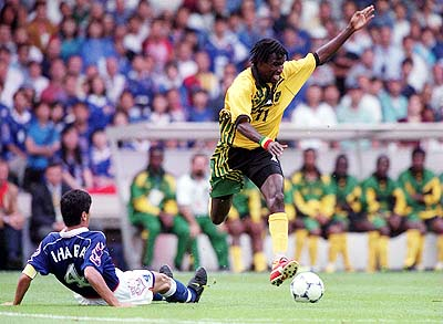 Robbie Earle scored Jamaica's first World Cup goal, but 'Tappa' Whitmore scored the two that secured the first win. (Photo: sportsillustrated.cnn.com)