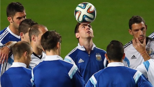 Nice idea, Leo, but I think they'll just knock you over to make you stop. (foxsportsasia.com)