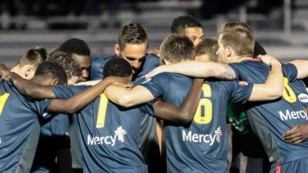 Saint Louis FC huddles up (via slc.fc)