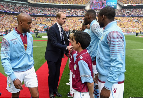Prince William can say his feet never touched the Wembley grass (dailymail.co.uk)