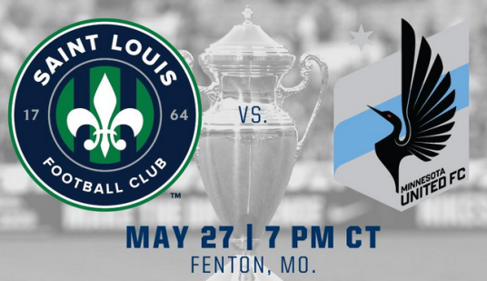 Saint Louis FC hosted Minnesota United FC in US Open Cup 3rd round play. (mnunitedfc.com)