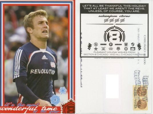 Chicago Fire Supporters Christmas Card to Taylor Twellman